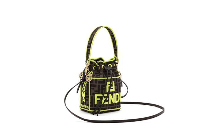 Minibag Fendi Roma Amor in tessuto