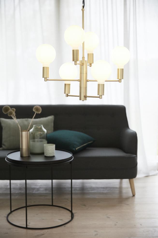 Chandelier in ottone di Hubsch, azienda danese specializzata in design per la casa