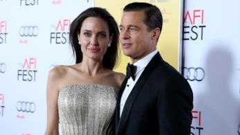 L'attrice Angelina Jolie insieme al suo ex marito Brad Pitt nel 2015