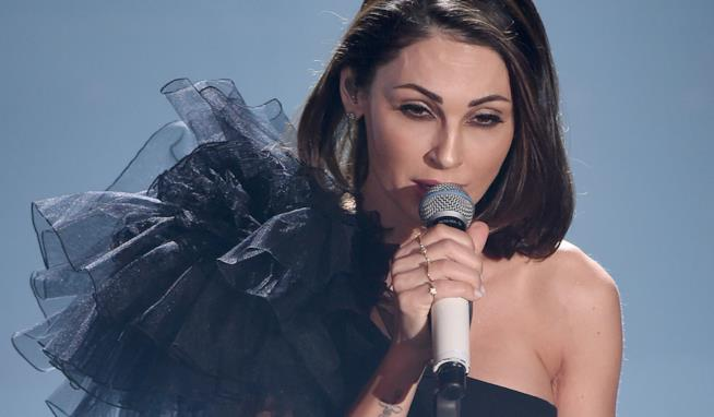 L'abito di Anna Tatangelo a Sanremo 2019