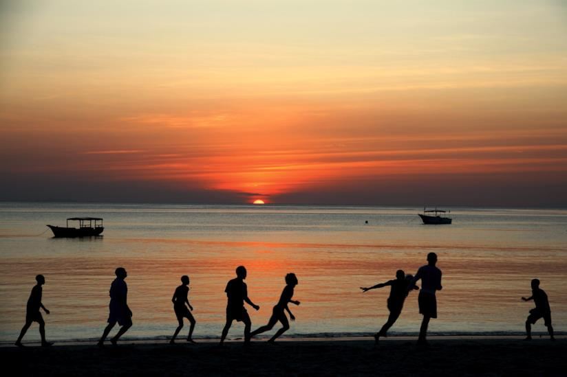 Giochi da spiaggia a Zanzibar