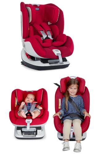 Seat Up - Seggiolino Auto per Bambini Gruppo 0+/1/2, Rosso