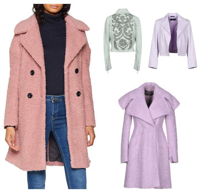 Giacche e cappotti colore pastello di tendenza autunno inverno 2018-19