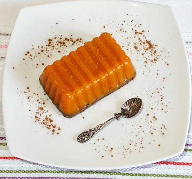 Dessert con zucca e cacao