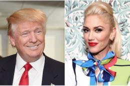 Collage tra Donald Trump e Gwen Stefani