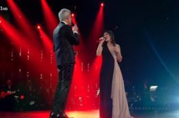 Elisa a Sanremo indossa un delicato abito Blumarine