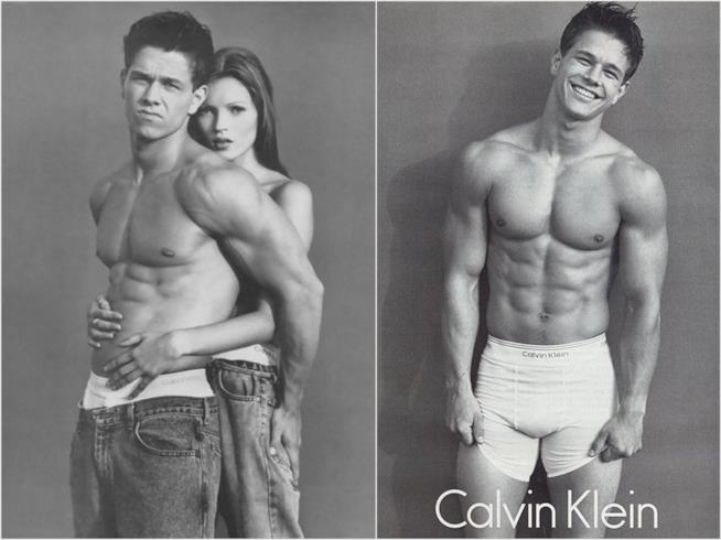 Mark Wahlberg nelle foto scattate per Calvin Klein negli anni '90
