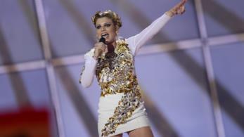 Emma Marrone durante l'Eurovision Song Contest