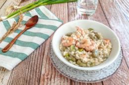 Primo piatto con legumi e frutti di mare