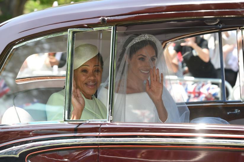 Meghan Markle e la madre arrivano a St. George Chapel