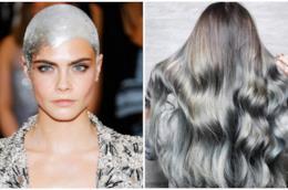 Cara Delevingne e i capelli metallici