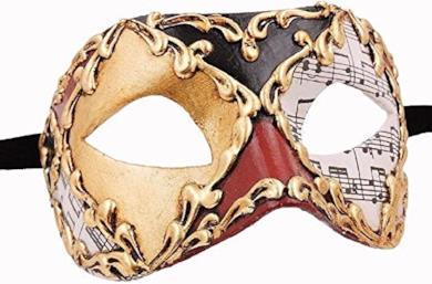 Maschera di carnevale veneziana di Colombina, fatta a mano