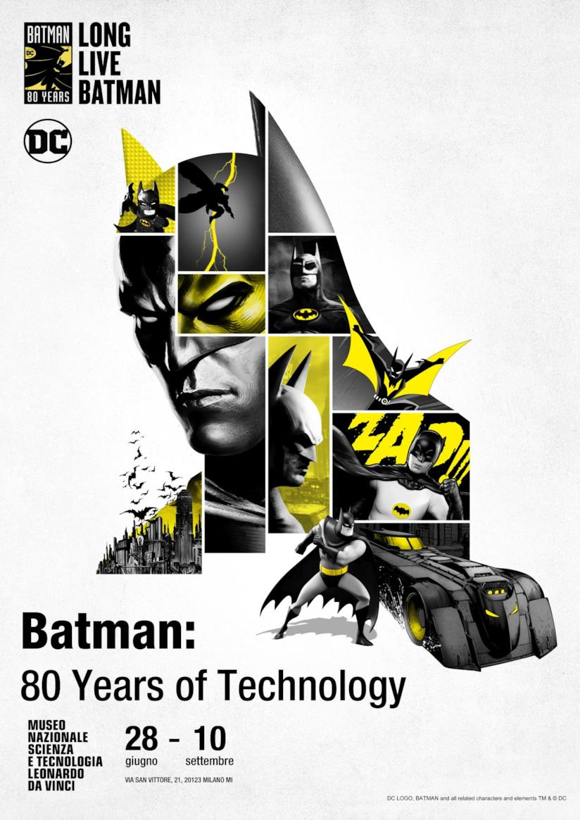 Il poster della mostra Batman: 80 years of technology