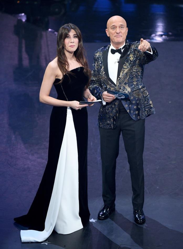 Virginia Raffaele e Claudio Bisio a Sanremo 2019