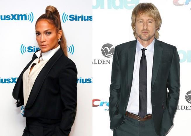 Gli attori Jennifer Lopez e Owen Wilson
