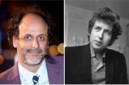 Collage tra Luca Guadagnino e Bob Dylan