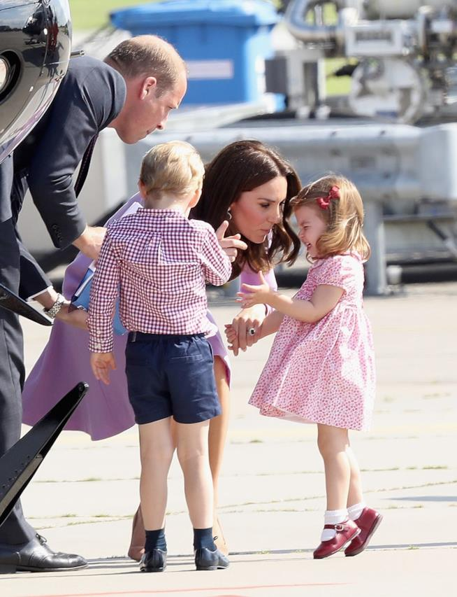 William, Kate, George e Charlotte