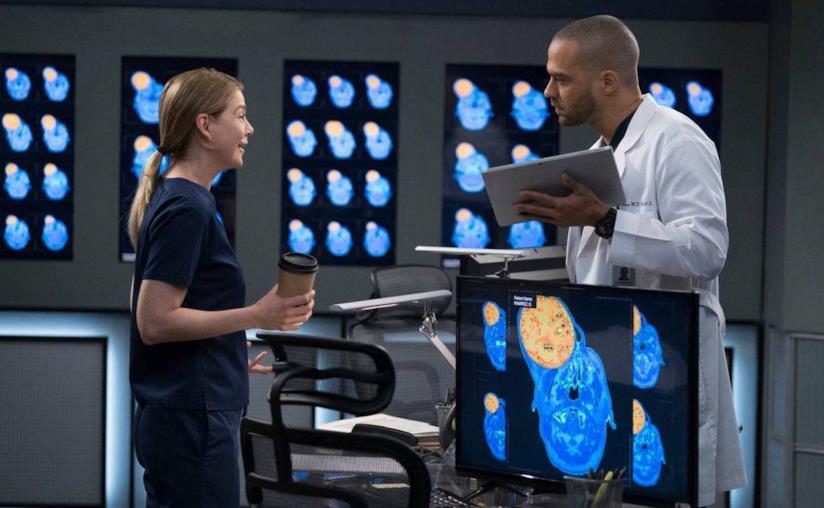 Jackson e Meredith in una scena di Grey's Anatomy 14x21