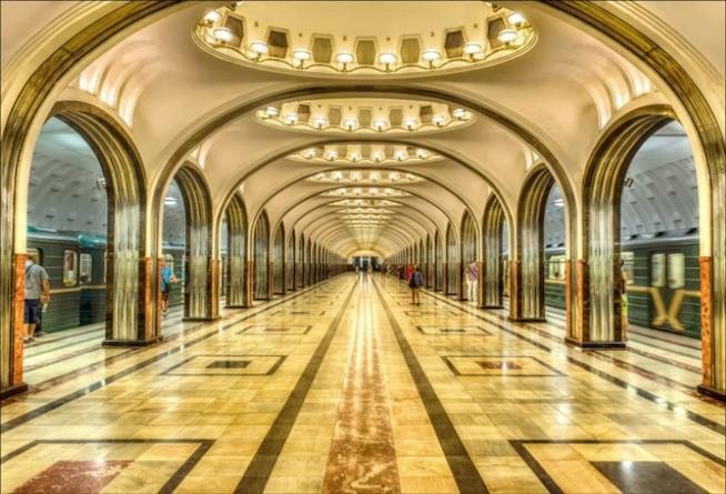 Stazione di Majakovskaja, Mosca interno