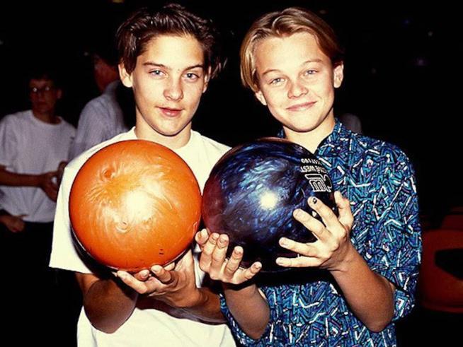 Tobey Maguire e Leonardo DiCaprio da bambini