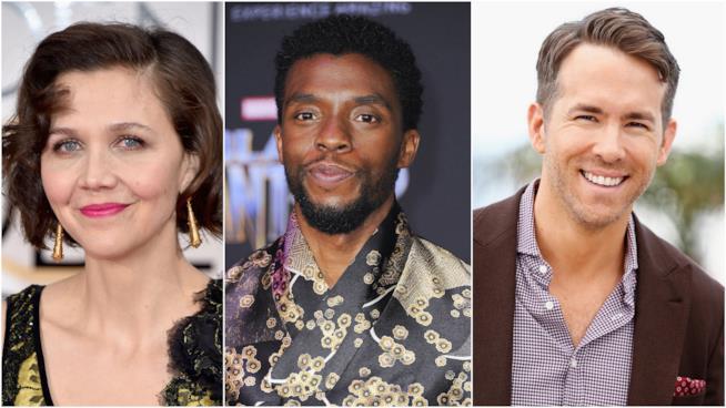 Maggie Gyllenhaal, Chadwick Boseman e Ryan Reynolds