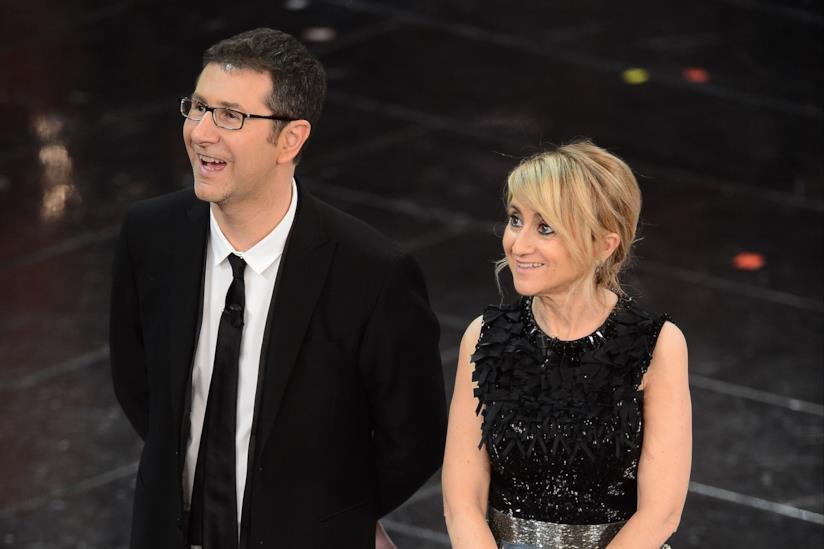 Fabio Fazio e Luciana Littizzetto Festival di Sanremo 2014