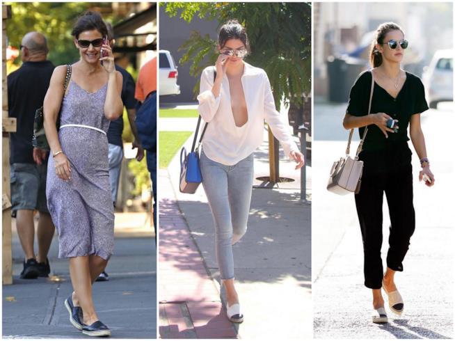 Katie Holmes, Kendall Jenner e Alessandra Ambrosio con le espadrillas Chanel
