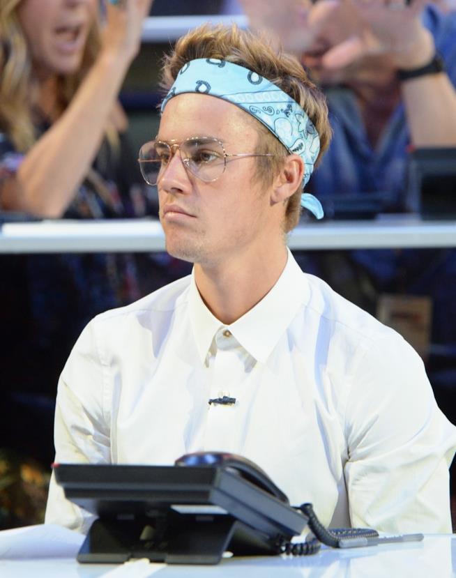 Justin Bieber, piuttosto accigliato!