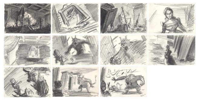Storyboards La Bella e la Bestia