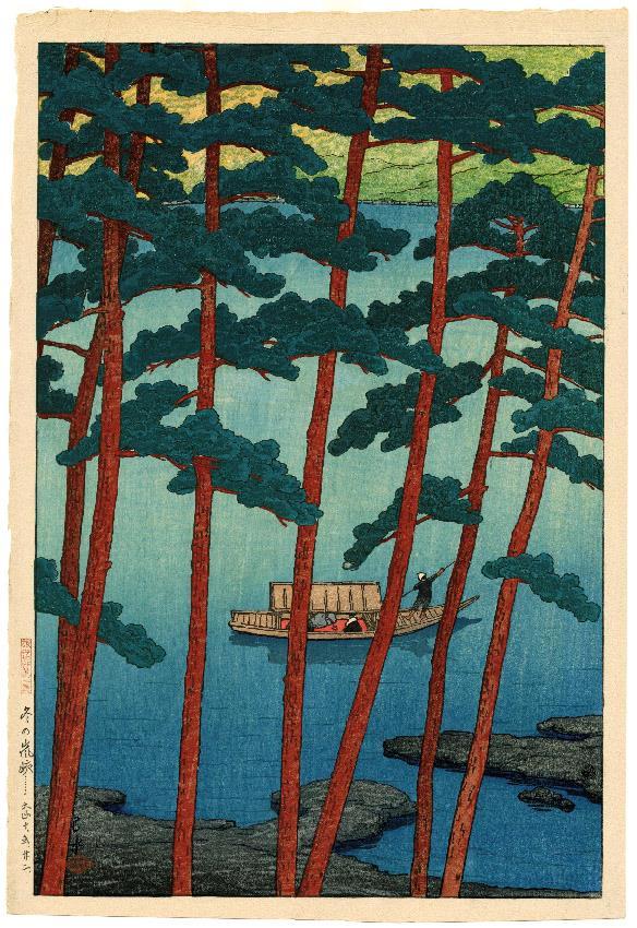 Hasui Kawase, Il monte Arashi in inverno, 1921, Xilografia, collezione privata
