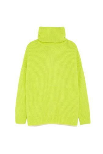 Pullover oversize verde fluo