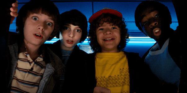 Will, Mike, Dustin e Lucas di Stranger Things