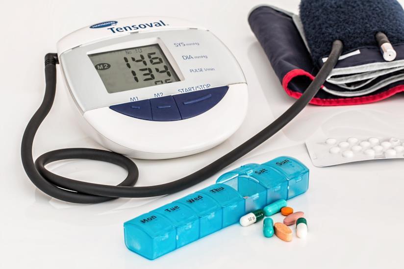 Strumento per misurare la pression e medicinali.
