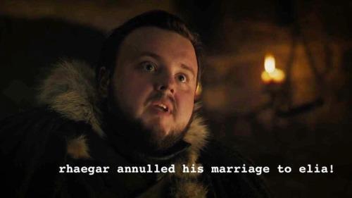 Sam svela la verità sul matrimonio annullato di Rhaegar