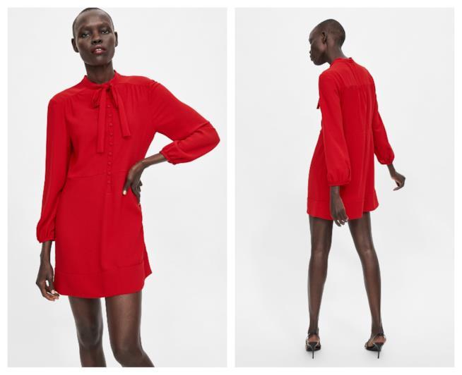 Il mini abito di Zara intinto nel rosso per l'autunno 2018