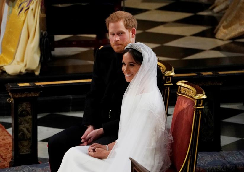 Harry e Meghan Markle durante la cerimonia del Royal Wedding