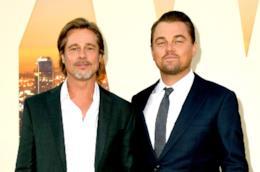 Leonardo DiCaprio e Brad Pitt in primo piano