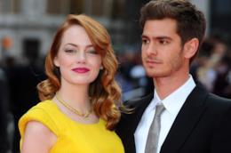 Primo piano di Emma Stone e Andrew Garfield