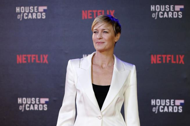 L'attrice Robin Wright ad un evento Netflix per House Of Cards