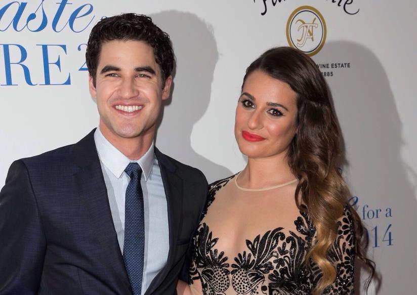 Le co star di Glee Lea Michele e Darren Criss