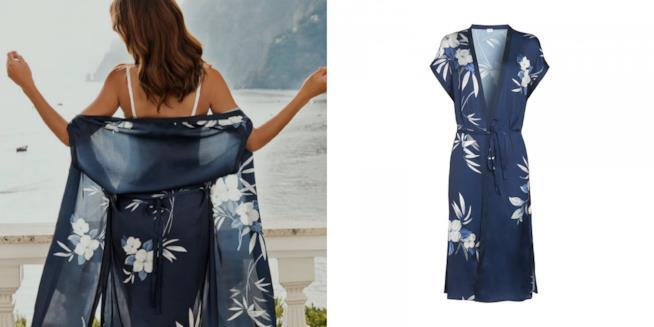 Collage modella e kimono Yamamay Amalfi