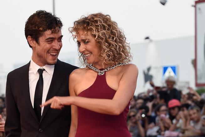 Valeria Golino e l'ex compagno Riccardo Scamarcio