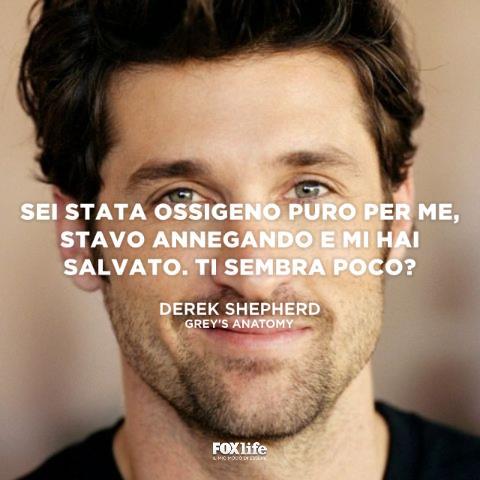 Frase Derek Shepherd Grey's Anatomy