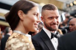 Justin Timberlake e Jessica Beil agli Oscar 2017