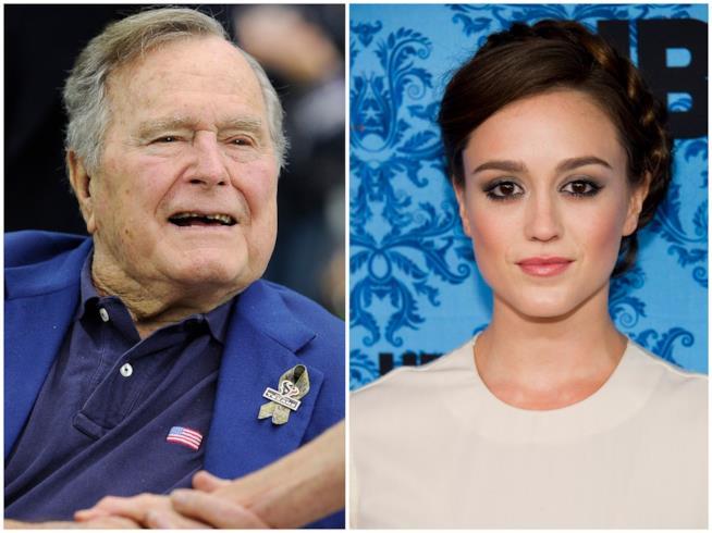 George H.W. Bush e Heather Lind