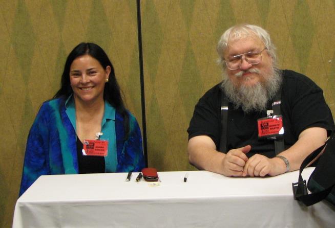 Diana Gabaldon e George Martin insieme in una conferenza stampa