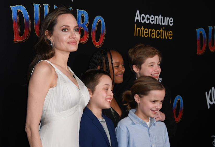 Angelina Jolie con i figli
