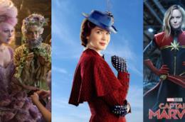 immagini promozionali di The Nutcracker, Mary Popins, Captain Marvel