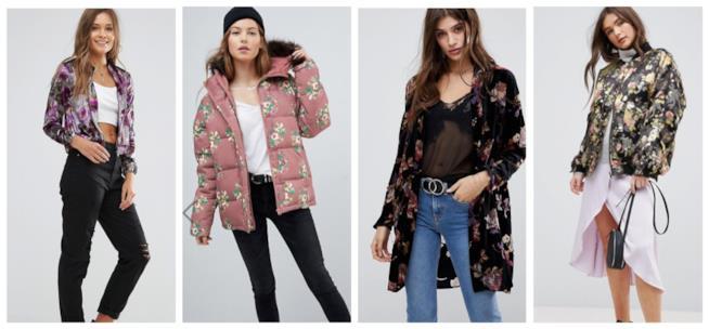 A fiori, i giubbotti e cappotti di moda per l'A/I 2018-19