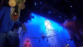 Una delle stanze della mostra dedicata ai Pink Floyd
